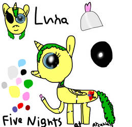 Five Nights at Arcanias: Luna (Reference Sheet) by LunaBruceYT