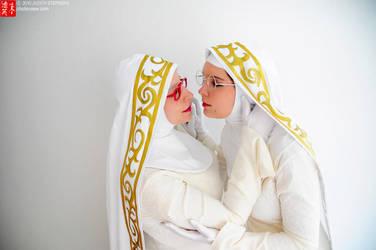 Bayonetta Nuns by Athena1chan