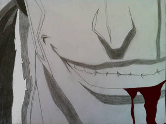 Kenpachi bloody smile by MADMIKEO7