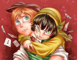 Lackadaisy Tackle Hug by Dilenma