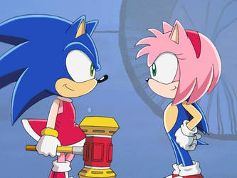 14th Sonic and Amy Head Swap! by SwappyShira