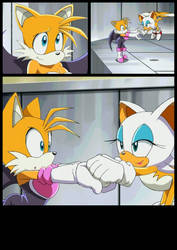 conflict between Rouge and Tails Page 4 by SwappyShira