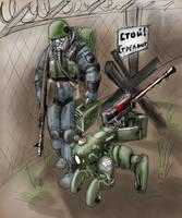 Machine-gun squad by TugoDoomER