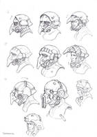 Neophron's helmets 1 by TugoDoomER
