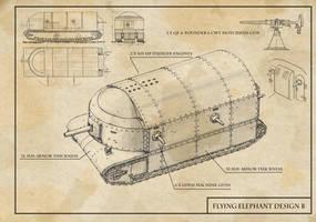 Flying Elephant Design B by TugoDoomER