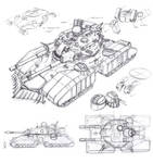 Soviet Bastion super-heavy tank by TugoDoomER