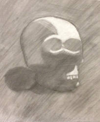 Charcoal Skull by Shattered-Reaper