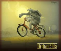 Elephant on a Bike by DC-Tiki