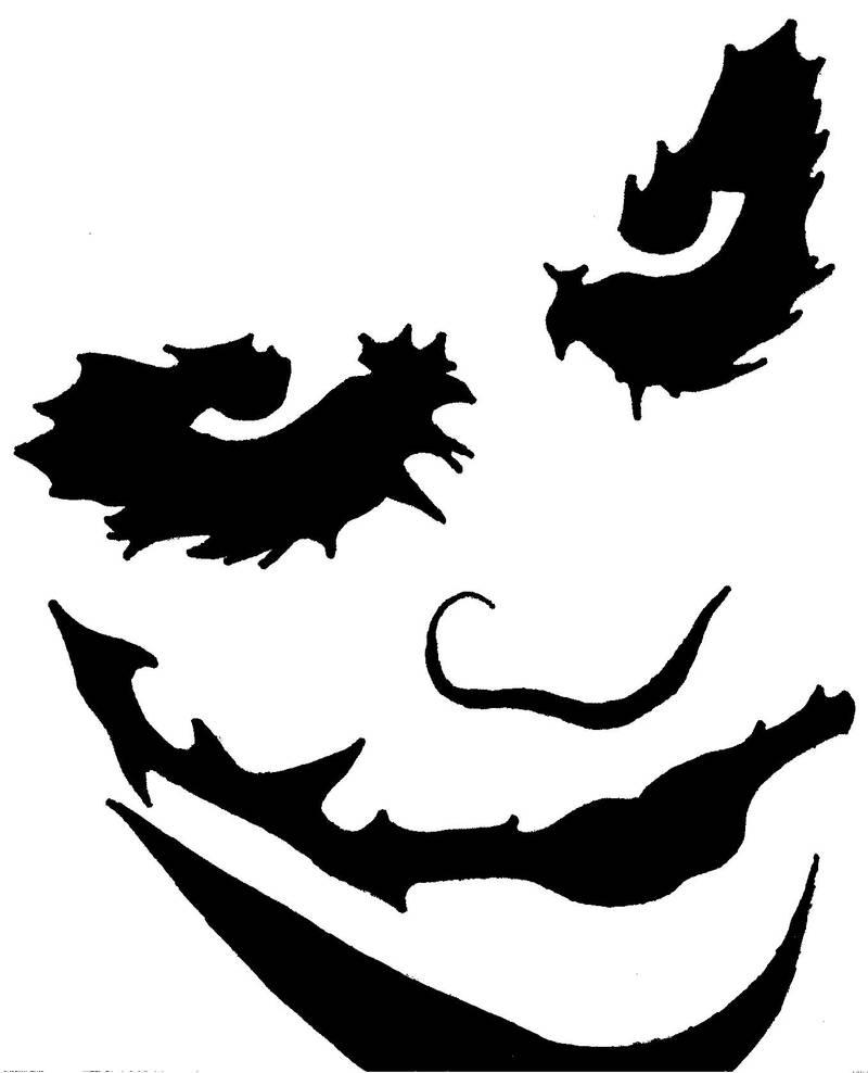 Joker Pumpkin Stencil by blanksofar