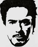 Tony Stark Stencil by blanksofar