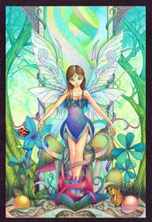 Nature fairy by llamadorada