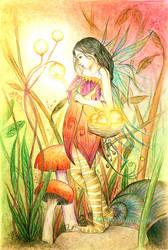 Gatherer fairy by llamadorada