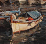 Derek Penix - French Fishing Boat by OilPaintersofAmerica