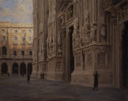 Duomo Di Milano - Derek W. Penix by OilPaintersofAmerica