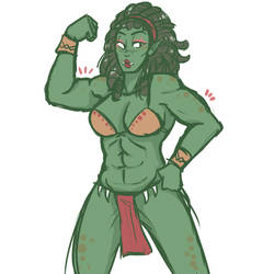 Orc Lady by SlickPens