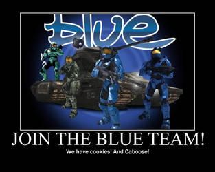 Blue Team Motivational Poster by akatsukifangirl91