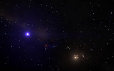 Blue-White Star 2 by benfortuneprice