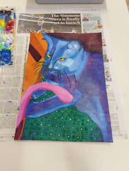 Panting of my cat by mermaidmeow