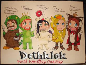Dethklok in FF Cosplay by neoanimegirl