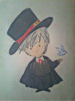 2013 drawing - daniel the magician :))) by nielopena