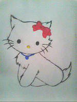 2013 drawing - Hello Kitty :) by nielopena