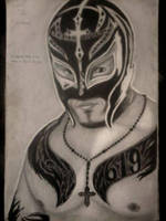 2013 drawing - 619 Rey Mysterio :) by nielopena