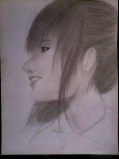 2014 Drawing - Random Lady :) by nielopena