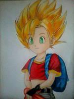 2014 Drawing - Super saiyan Pan :) by nielopena