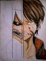 2014 Drawing - wip no. 2 of Eren :) by nielopena