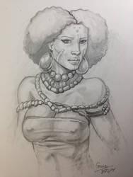 Tribal Woman by Izryell