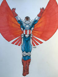 The Falcon... I Mean Captain America by Izryell