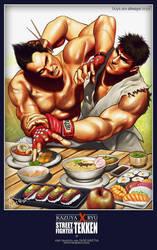 Kazuya X Ryu by FADCtoULTRA