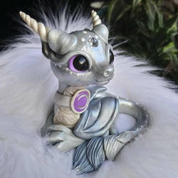 Silver moon dragon  by Azura-Roselion
