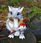 Christmas dragon by Azura-Roselion