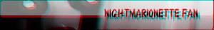 Nightmare Marionette fan button by Meka2201
