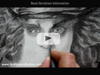 Drawing Johnny Depp - Video by Bobby-Sandhu