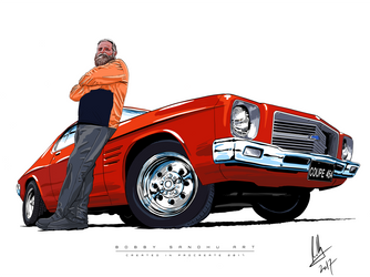 Coupe 454 - Holden Monaro '71 - Procreate by Bobby-Sandhu