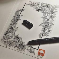 frame of flowers by aslah92