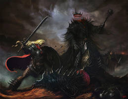 Eowyn and the Nazgul by tmza