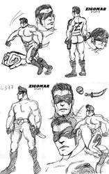 Masked Serbian hero Zigomar doodle by M3Gr1ml0ck