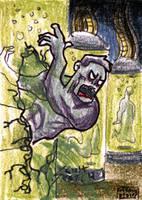 Cartoon Zombie Sketh Card 9 by geralddedios