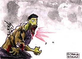 Cartoon Zombie Sketch Card 10 by geralddedios