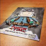 SteamPunk FINN - AdventureTime Sketchcard by geralddedios
