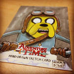 SteamPunk JAKE - AdventureTime Sketchcard by geralddedios
