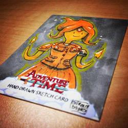 SteamPunk Flame Princes Adventure Time Sketchcard by geralddedios