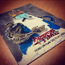 SteamPunk Ice King - Adventure Time Sketchcard by geralddedios