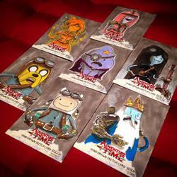 My SteamPunk Adventure Time sketchcards by geralddedios