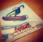 Olympics - FINN snowboarding sketchcard by geralddedios