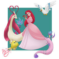Ariel Pokemon trainer by TheCrownedHeart