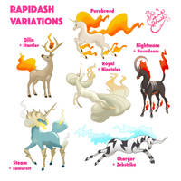 Rapidash Variations by TheCrownedHeart
